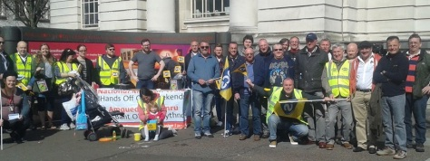 Day 8 of fantastic all out strike by PCS National Museum of Wales